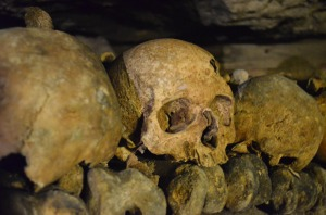 12-closeup skull catacomb
